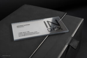 Clear Business Cards with Transparent Business Cards Template