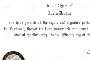 Close Up Of Juris Doctorate Law Degree Certificate regarding Doctorate Certificate Template