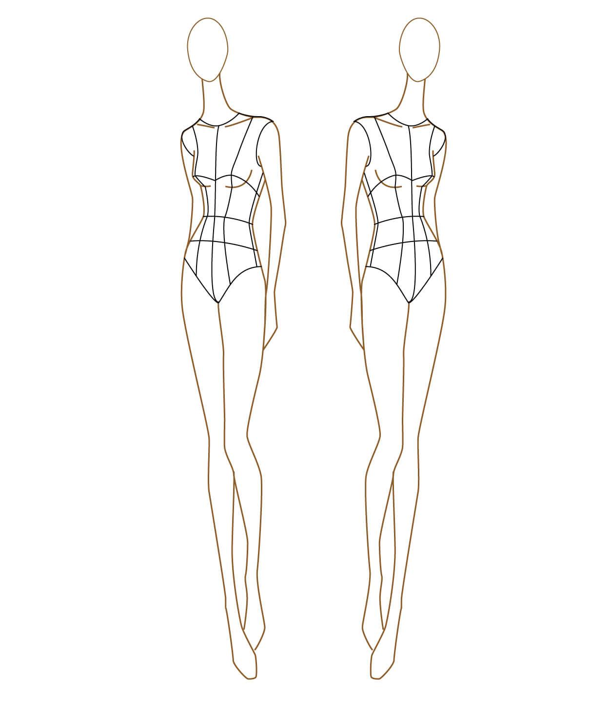 Clothing Model Sketch At Paintingvalley   Explore Regarding Blank Model Sketch Template