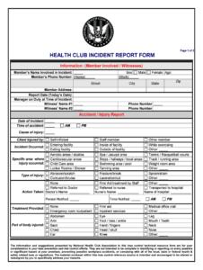 Club Incident Report Form – Fill Online, Printable, Fillable in First Aid Incident Report Form Template