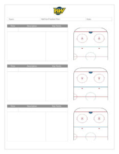 Coach's Manual And Practice Plan Templates – Whitemud West with Blank Hockey Practice Plan Template