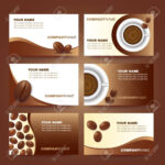 Coffee Business Card Template Vector Set Design intended for Coffee Business Card Template Free
