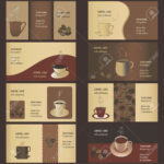 Coffee Business Card Templates (8 Set) Pertaining To Coffee Business Card Template Free