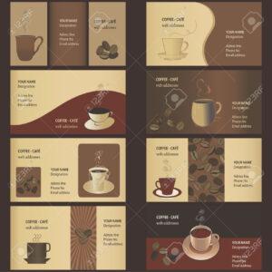 Coffee Business Card Templates (8 Set) pertaining to Coffee Business Card Template Free