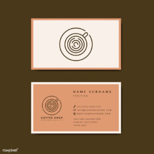Coffee Shop Business Card Template Vector | Free Image with regard to Coffee Business Card Template Free