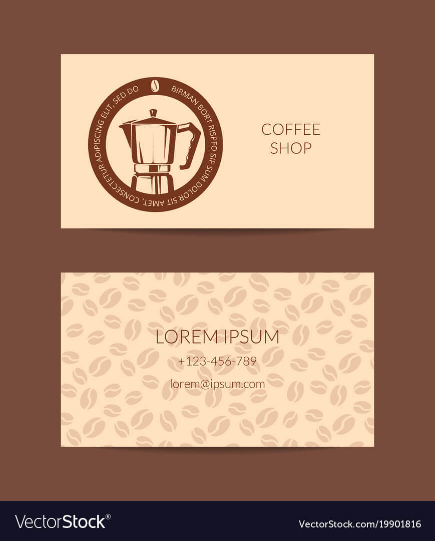 Coffee Shop Or Company Business Card In Coffee Business Card Template Free