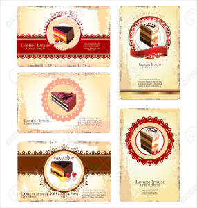 Coffeetea And Cakes Menu Or Business Card Template Royalty for Cake Business Cards Templates Free