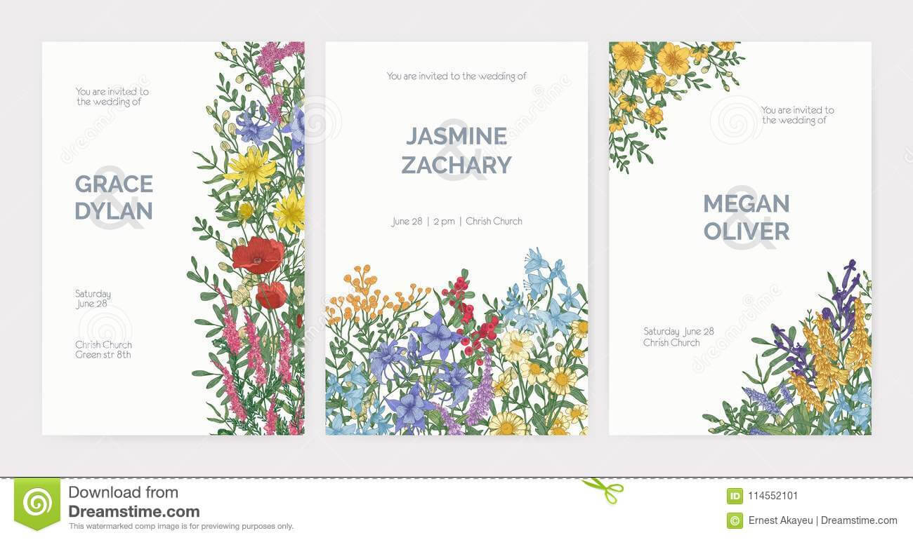 Collection Of Wedding Party Celebration Invitation Templates In Celebrate It Templates Place Cards