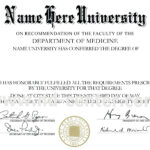 College Diploma Template Pdf | Vision Board Quotes | College intended for Doctorate Certificate Template