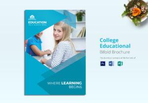 College Educational Brochure Template inside Brochure Design Templates For Education