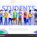 College Multinational Students Flat Vector Poster — Stock With Regard To College Banner Template