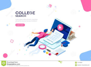 College Web Page Banner Template Stock Vector – Illustration with regard to College Banner Template
