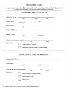 Colombian Birth Certificate Translation Template Translate inside Birth Certificate Translation Template