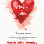 Colorful Engagement Invitation Card Template Inside Engagement Invitation Card Template