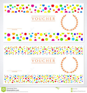 Colorful Gift Certificate (Voucher) Template Stock Vector within Kids Gift Certificate Template
