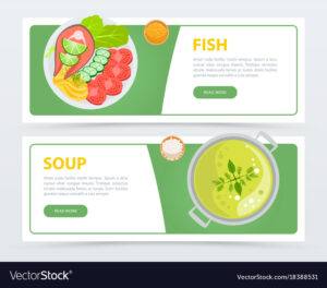 Colorful Horizontal Food Banner Template within Food Banner Template