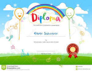 Colorful Kids Summer Camp Diploma Certificate Template In with regard to Summer Camp Certificate Template