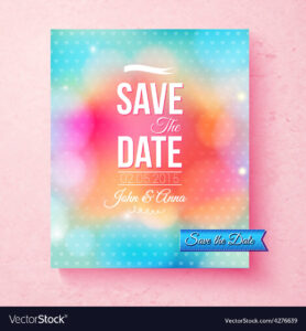 Colorful Save The Date Template Textured With Dots With Save The Date Banner Template