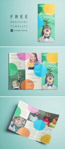 Colorful School Brochure – Tri Fold Template | Download Free within Free Brochure Template Downloads
