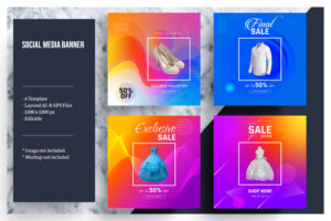 Colorful Social Media Banner Template with regard to Product Banner Template