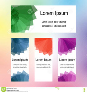 Colorful Templates For Visiting Cards, Labels, Fliers within Advertising Cards Templates