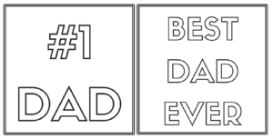 Coloring Cards For Father's Day – The Resourceful Mama intended for Fathers Day Card Template