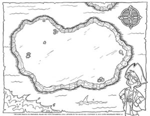 Coloring ~ Kids Pirate Map Photo Ideas Blank Treasure Tims pertaining to Blank Pirate Map Template
