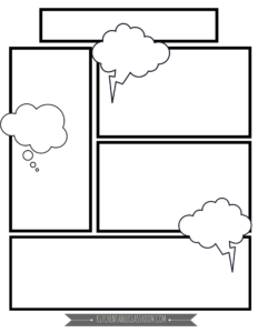 Comic Book Templates – Free Printable Pages | תכנים | Comic inside Printable Blank Comic Strip Template For Kids
