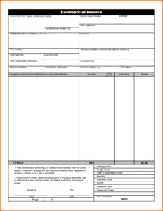 Commercial Invoice Template Word Doc Shipping Fedex with Commercial Invoice Template Word Doc