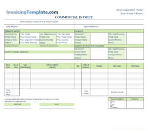 Commercial Invoice Templates – 20 Results Found pertaining to Commercial Invoice Template Word Doc