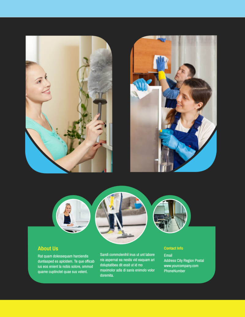 Commercial Office Cleaning Flyer Template Within Commercial Cleaning Brochure Templates