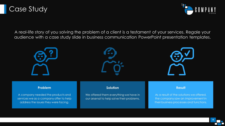 Communications Plan Premium Powerpoint Template - Slidestore In Powerpoint Templates For Communication Presentation