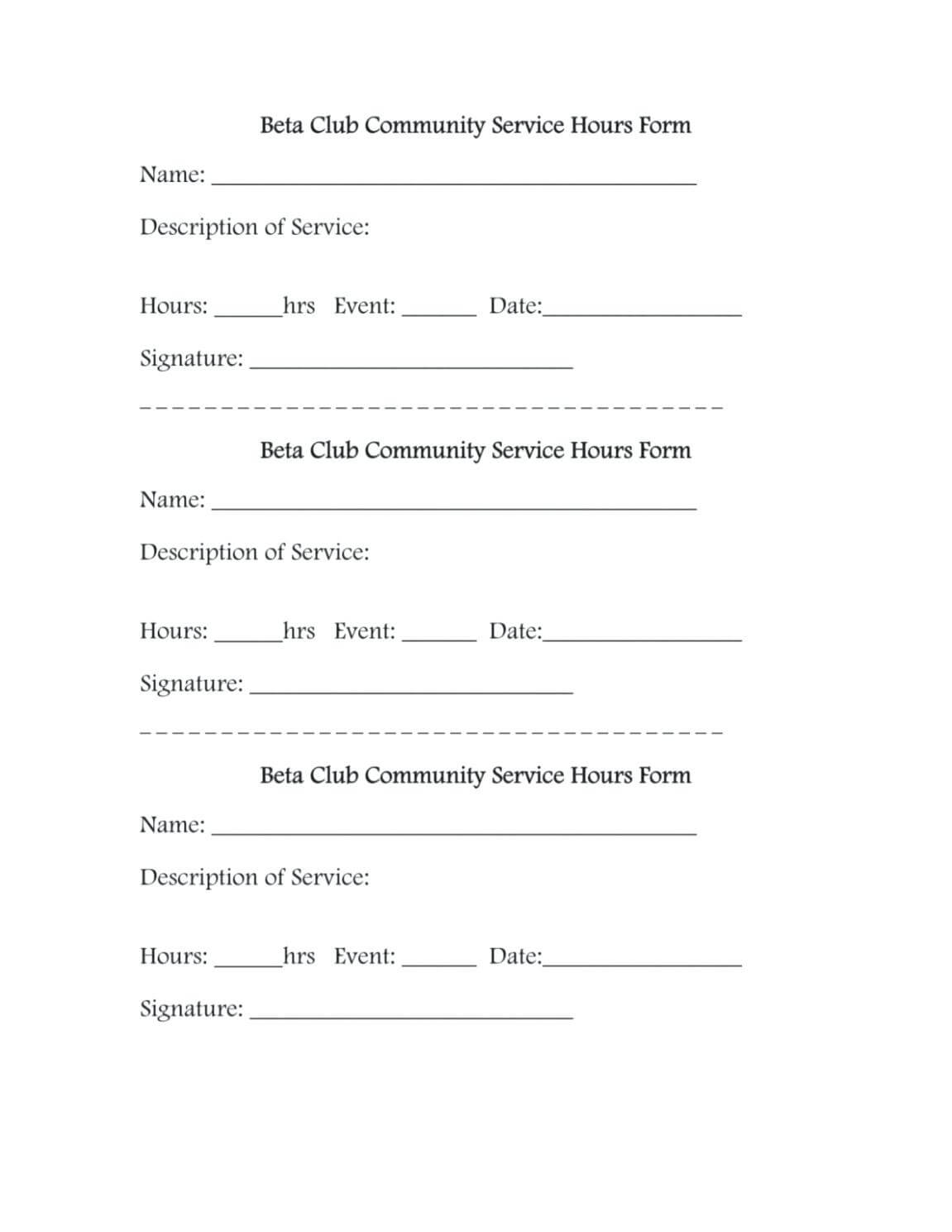 Community Service Template – Verypage.co Inside Volunteer Report Template