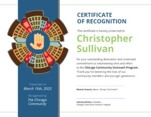 Community Volunteer Certificate Of Recognition Template inside Volunteer Certificate Template