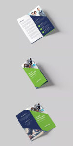 Company Bi-Fold Dl Brochure Template Psd #unlimiteddownloads throughout Quad Fold Brochure Template
