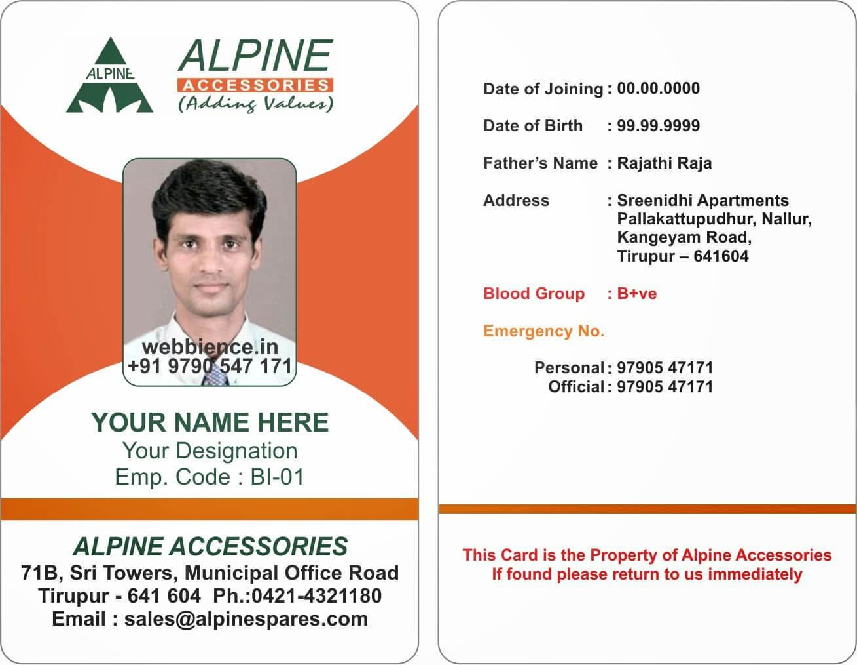 Company Id Card Format Design - Hizir.kaptanband.co Inside Sample Of Id Card Template