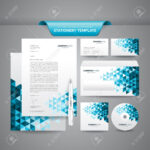 Complete Set Of Business Stationery Template Such As Letterhead,.. Within Business Card Letterhead Envelope Template