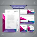 Complete Set Of Business Stationery Templates Such As Letterhead,.. Within Business Card Letterhead Envelope Template