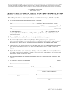 Completion Certificate Sample Construction – Fill Online for Certificate Of Substantial Completion Template