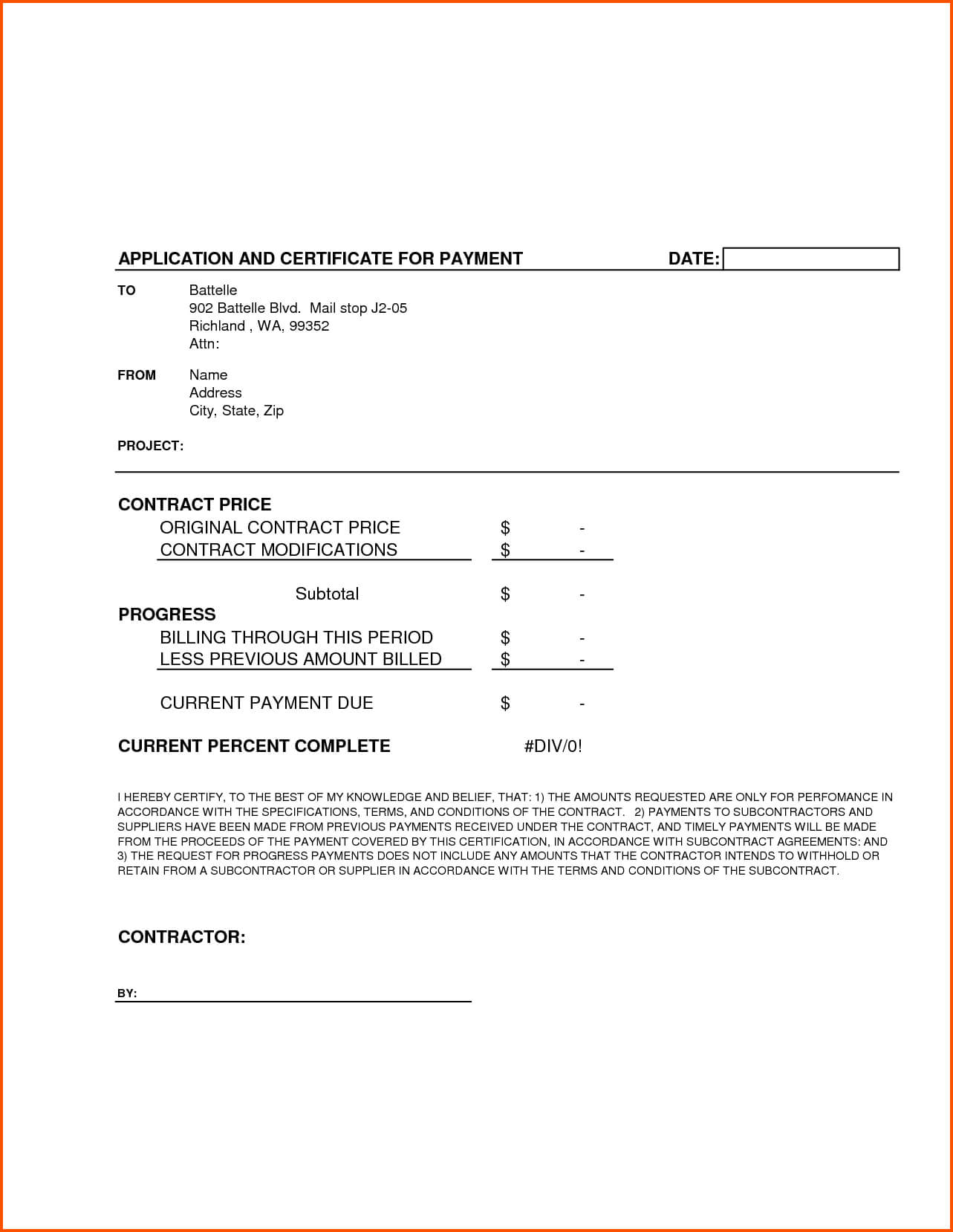 Completion Template Doc Certificate Certification Letter For With Certificate Of Completion Construction Templates