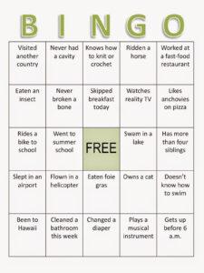 Composition Classroom: Back To School Bingo Ice Breaker for Ice Breaker Bingo Card Template