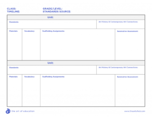 Comprehensive Curriculum Examples For Every Age Level | Art with Blank Curriculum Map Template