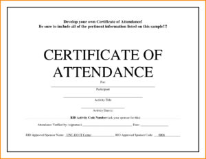 Conference Attendance Certificate Samples Fresh Template throughout Certificate Of Attendance Conference Template