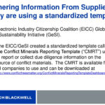 Conflict Minerals: Not Just For Public Companies – What Inside Eicc Conflict Minerals Reporting Template