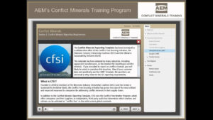 Conflict Minerals Training – Aem   Association Of Equipment with Eicc Conflict Minerals Reporting Template