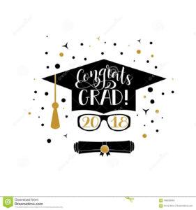 Congrats Grad 2018 Lettering. Congratulations Graduate inside Graduation Banner Template