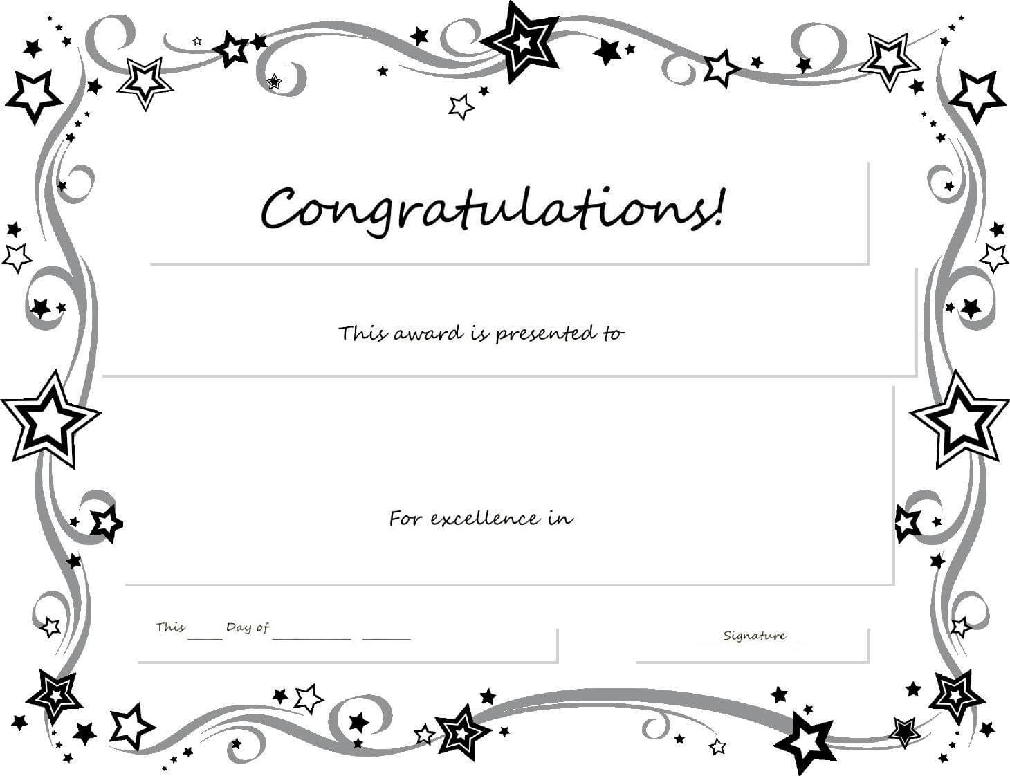 Congratulations Certificate Word Template - Erieairfair With Pertaining To Congratulations Certificate Word Template