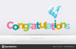 Congratulations Colorful Balloons White Background pertaining to Congratulations Banner Template