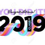 Congratulations Graduates Class Of 2019 Vector Logo. Graduation.. Pertaining To Graduation Banner Template
