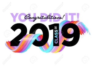 Congratulations Graduates Class Of 2019 Vector Logo. Graduation.. pertaining to Graduation Banner Template